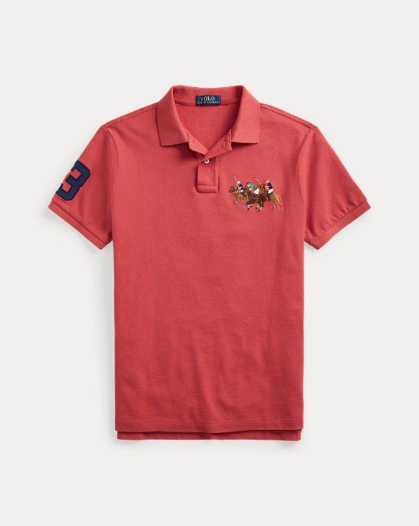 Triple-Pony Mesh Polo Shirt