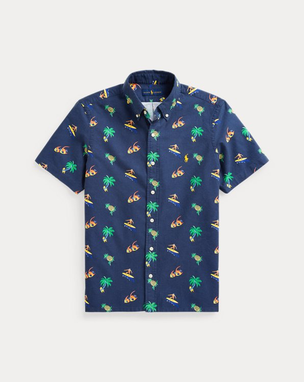 Surfer-Print Oxford Shirt