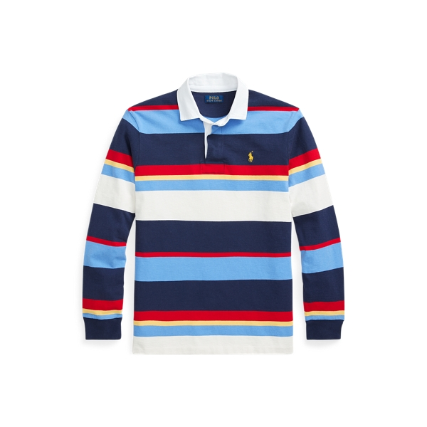 POLO RALPH LAUREN STRIPED JERSEY RUGBY SHIRT