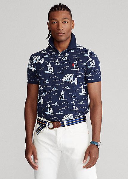 Polo Ralph Lauren Swimmer Print Mesh Polo Shirt