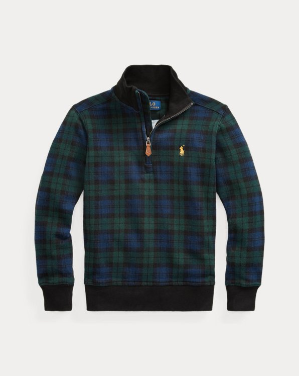 Tartan Cotton French Terry Pullover