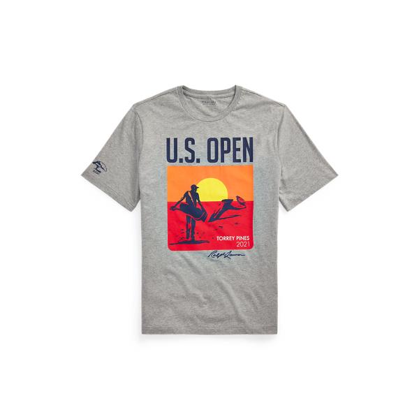 Polo Ralph Lauren U.s. Open Jersey Graphic T-shirt In Gray
