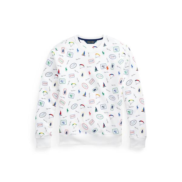 Polo Ralph Lauren U.s. Open Double-knit Graphic Sweatshirt In White Multi