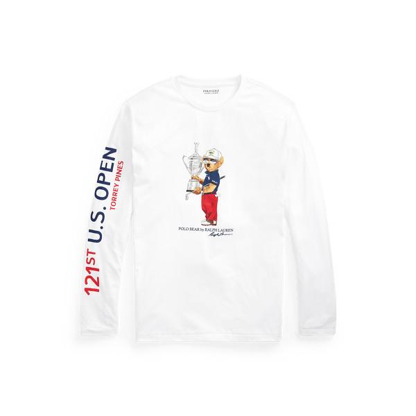 Polo Ralph Lauren U.s. Open Polo Bear Jersey T-shirt In White