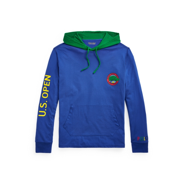 Polo Ralph Lauren U.s. Open Graphic Hooded T-shirt In Bright Royal