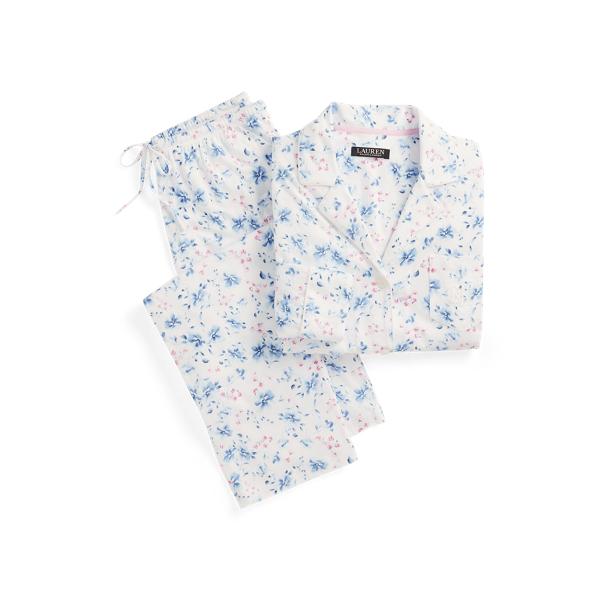 로렌 랄프로렌 파자마 세트  Lauren Floral Knit Cotton Blend Sleep Set,Ivory Floral