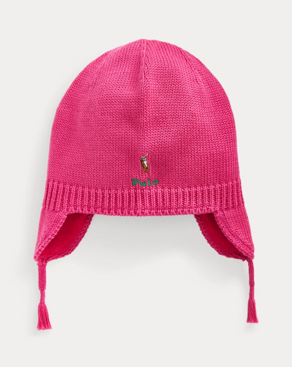 Polo Pony Cotton Earflap Hat