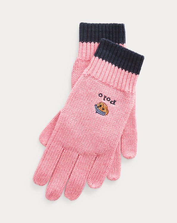 Polo Bear Cotton Gloves