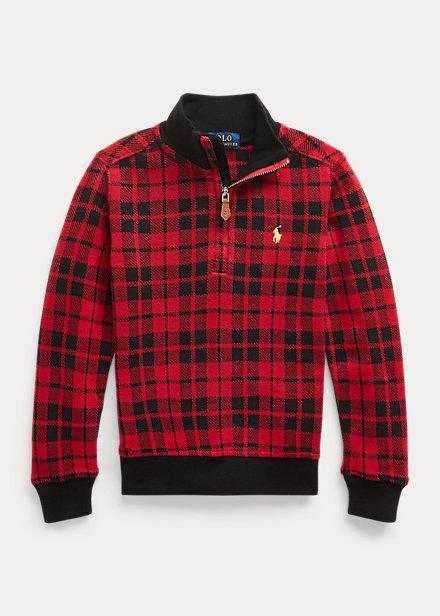 Polo Ralph Lauren Plaid Double-Knit Cotton Pullover