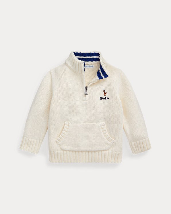 Cotton Quarter-Zip Sweater