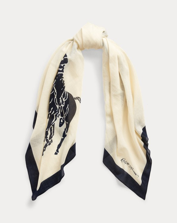 Signature Pony Cotton Scarf