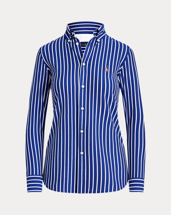 Striped Cotton Button-Down Shirt
