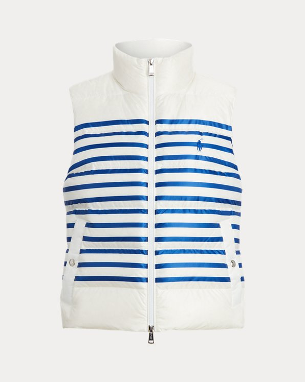 Belmont Striped Down-Filled Gilet
