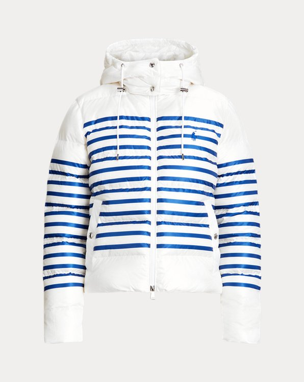 Belmont Striped Down-Filled Jacket