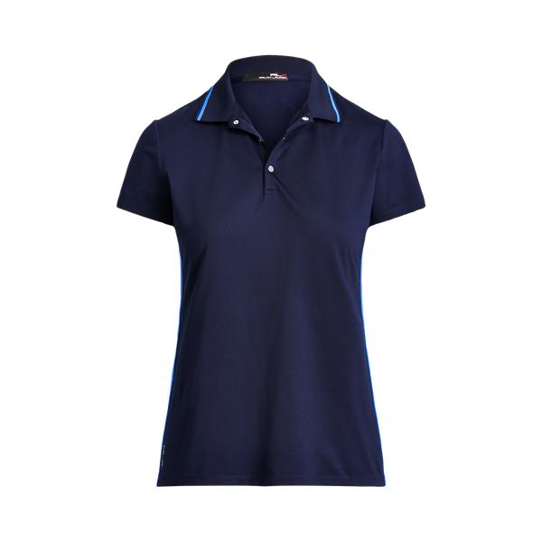 폴로 랄프로렌 Polo Ralph Lauren Striped Trim Golf Polo Shirt,French Navy/Multi Stripe
