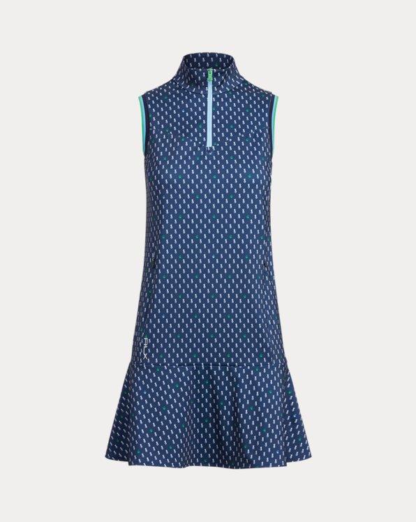 Polka-Dot Quarter-Zip Dress