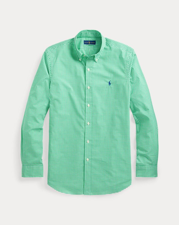 Custom-Fit Popelinehemd mit Ginganmuster