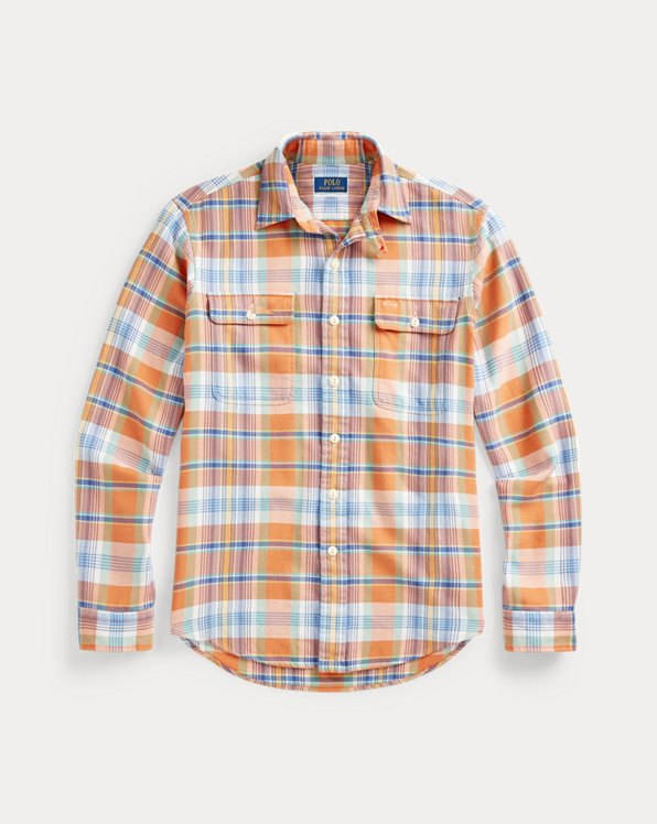 Custom Fit Plaid Twill Workshirt