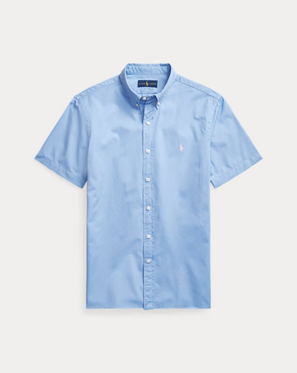 Camisa de sarga teñida Slim Fit