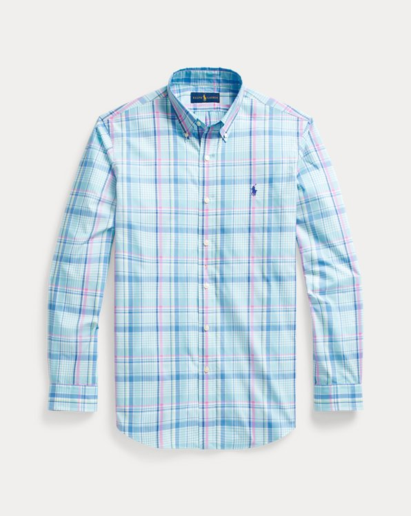 Camicia in popeline scozzese Custom-Fit
