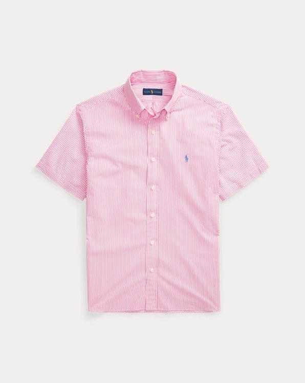 Custom-Fit Seersucker-Hemd mit Streifen