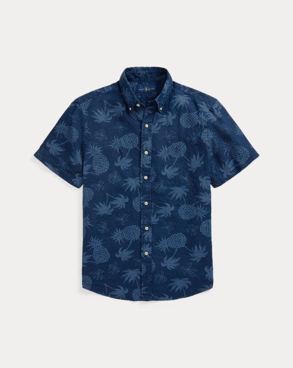 Slim Fit Tropical Linen Shirt