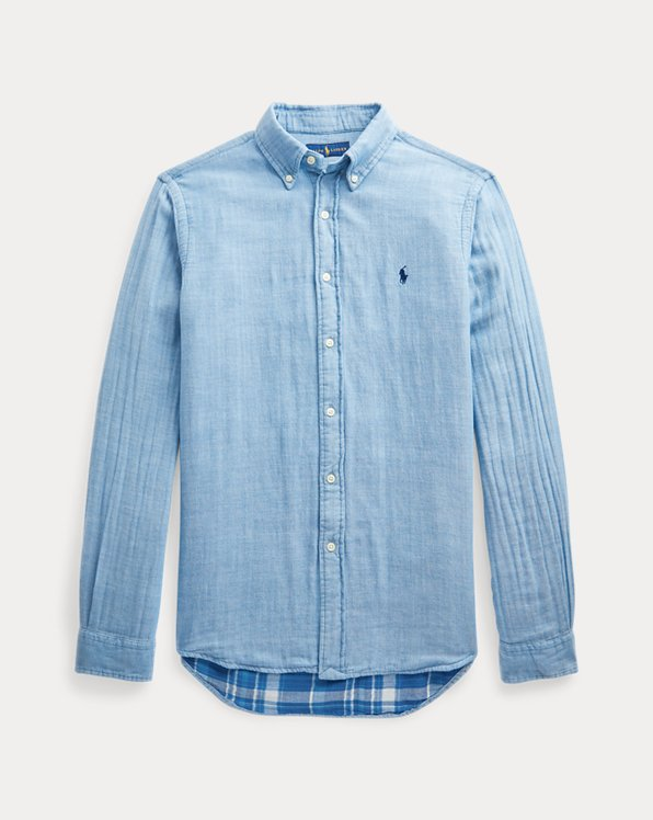 Custom Fit Double-Faced Chambray Shirt