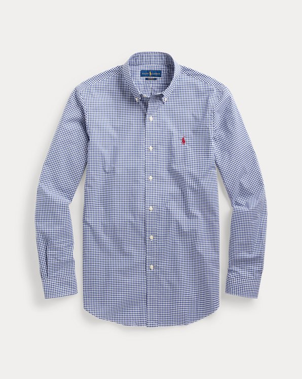 Custom Fit Gingham Poplin Shirt