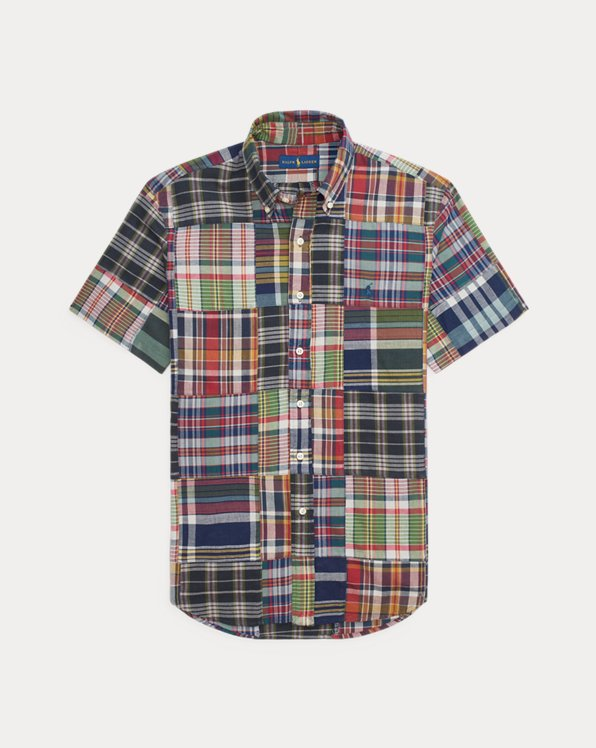 Custom Fit Patchwork Madras Shirt