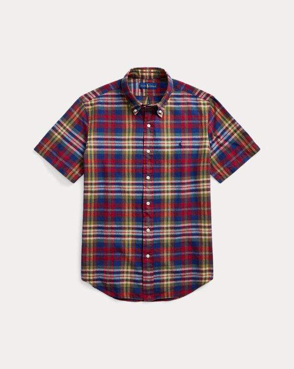 Custom Fit Indigo Madras Shirt