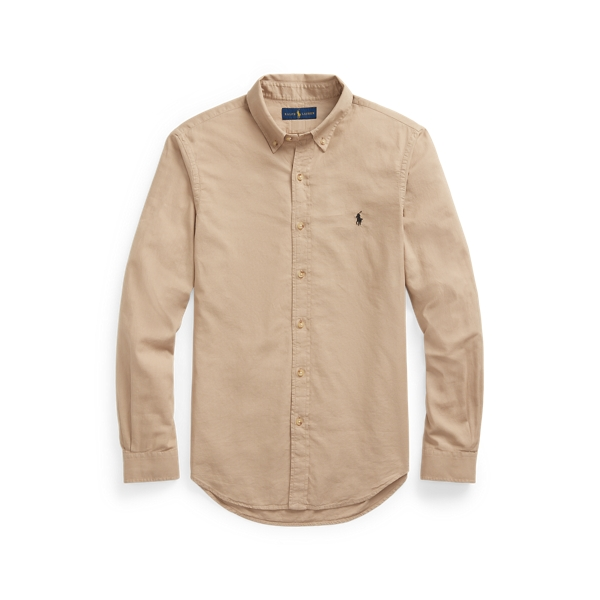 Ralph Lauren Slim Fit Dobby Shirt In Brown