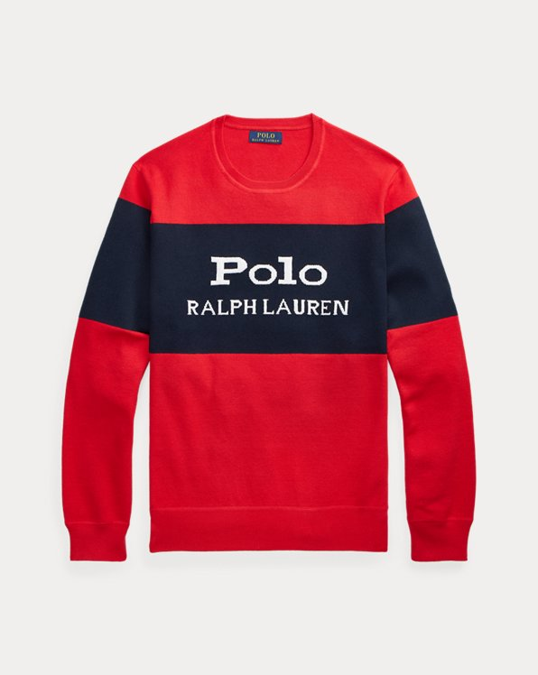 Colour-Blocked Logo Jumper
