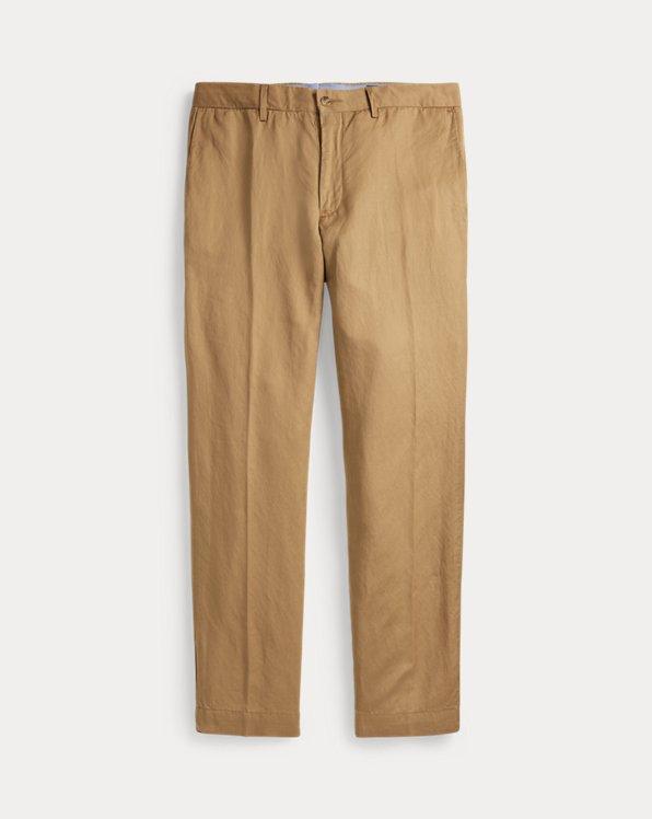 Straight Fit Linen-Blend Trouser