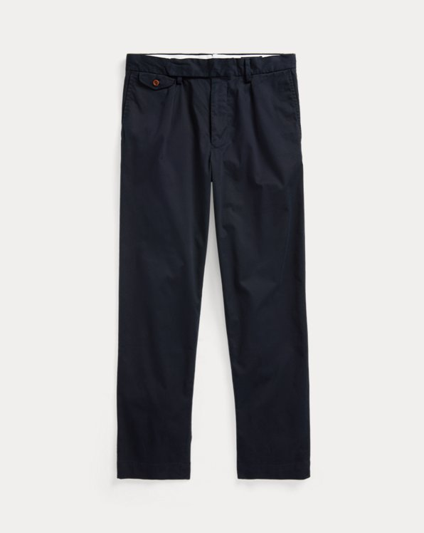 Stretch Slim Tapered Fit Pleated Trouser