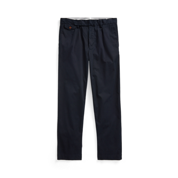 Ralph Lauren Stretch Slim Tapered Fit Pleated Pant In Blue