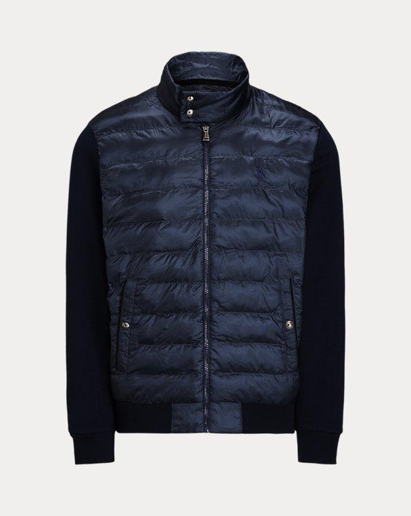 Herringbone Hybrid Mockneck Jacket