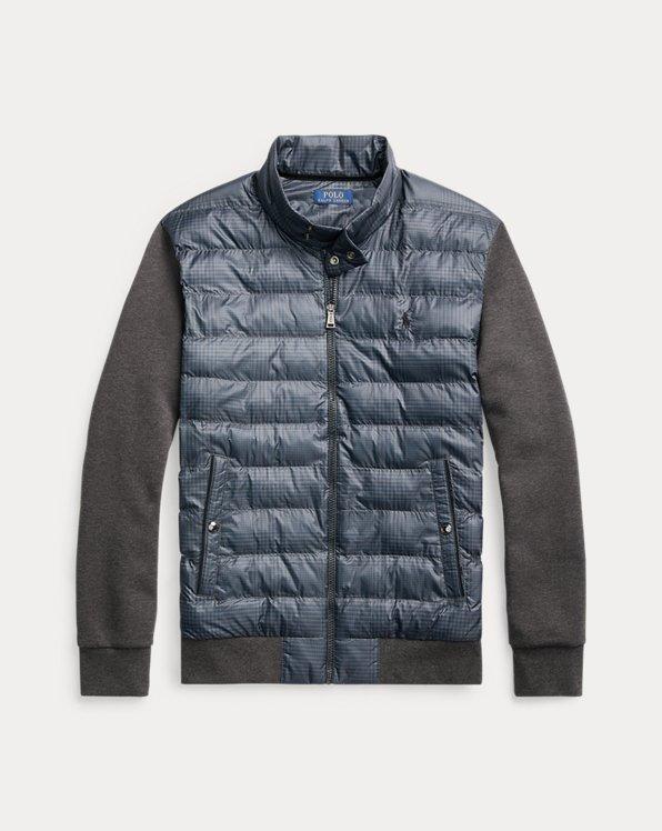 Glen Plaid Hybrid Mockneck Jacket