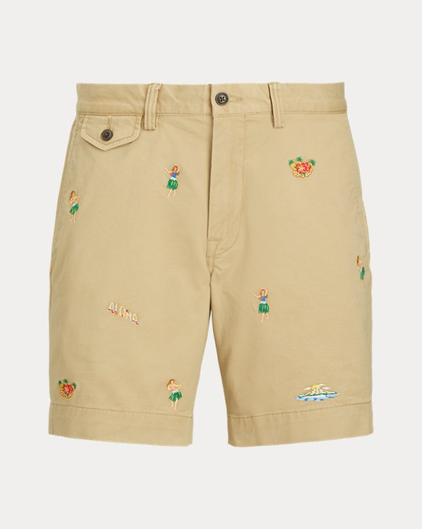 Stretch Straight Fit Twill Short
