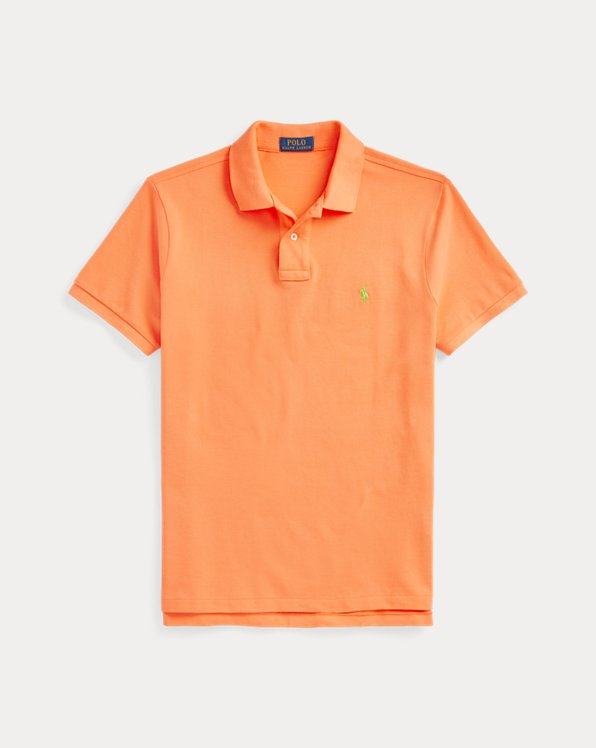 Custom Slim Fit Mesh Polo Shirt