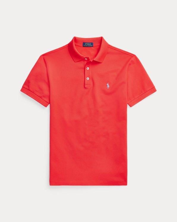 Slim Fit Stretch Mesh Polo Shirt