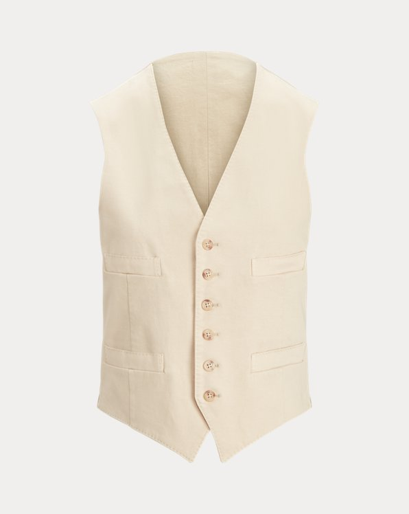 Garment-Dyed Stretch Chino Waistcoat