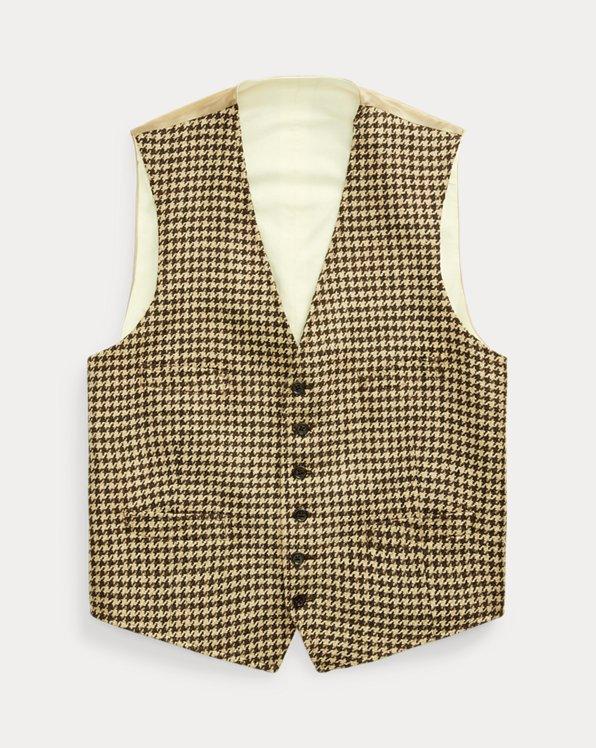 Houndstooth Tweed Waistcoat