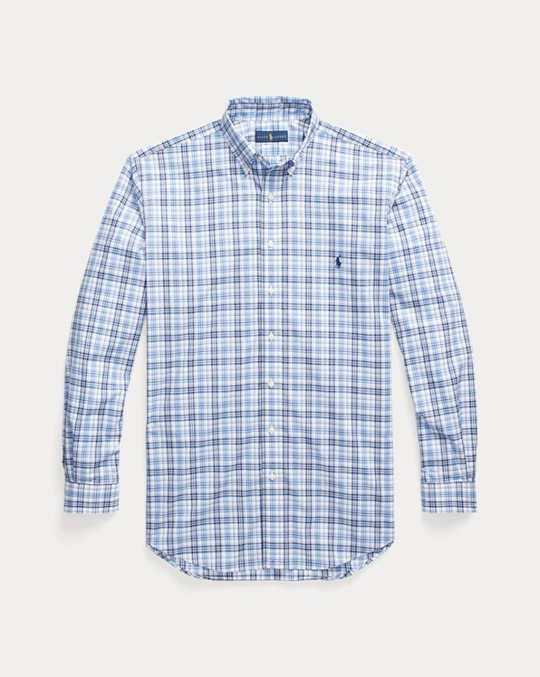Natural Stretch Plaid Poplin Shirt