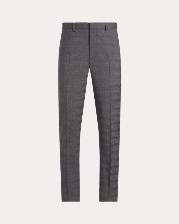 Glen Plaid Stretch Suit Trouser