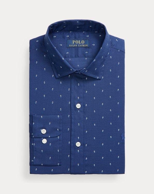 Custom-Fit Popelinehemd mit Pfeilmuster