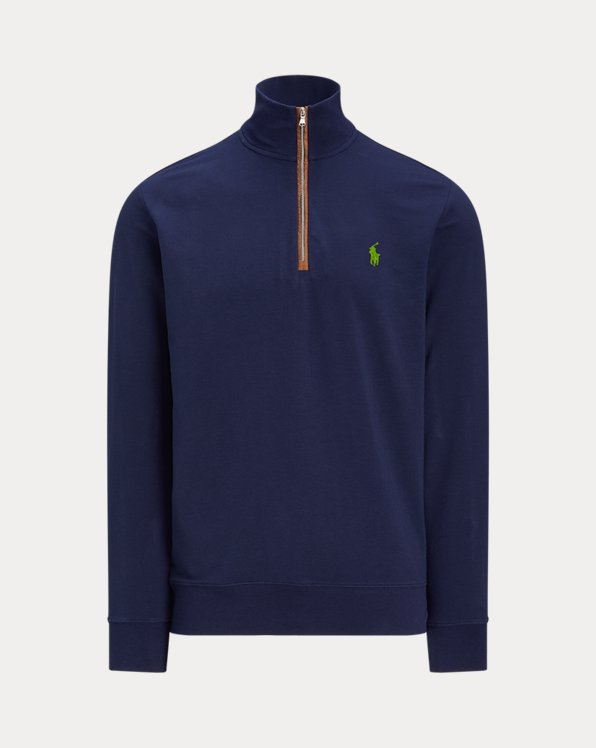 Slim Fit Water-Repellent Terry Pullover