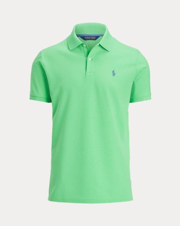 Custom Slim Fit Stretch Mesh Polo Shirt