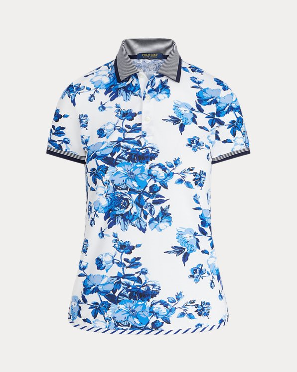 Tailored Fit Floral Golf Polo Shirt