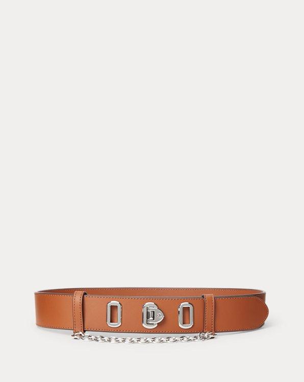 Flip-Lock Leather Belt