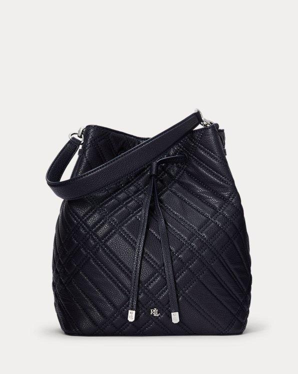 Plaid Quilted Debby Drawstring Bag